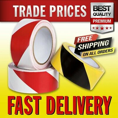 £5.95 • Buy HAZARD WARNING Self Adhesive 50mm X 33m FAST FREE DELIVERY TRADE PRICE