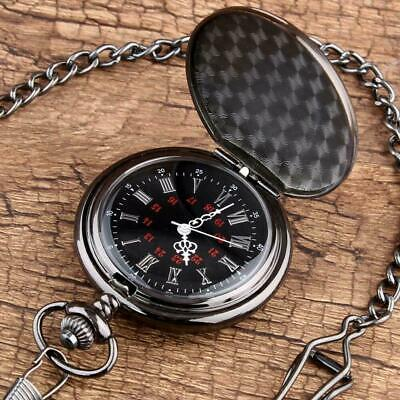 £5.49 • Buy Vintage Pocket Watch Engraved To My Son Quartz Pendant With Chain Classic Silver