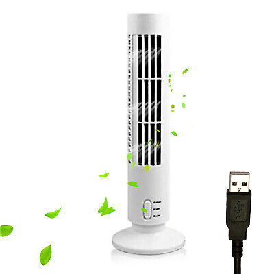 AU16.34 • Buy Portable Tower Fan Quiet Bladeless 2 Speed Electric Fan USB Powered Tower Z2F9