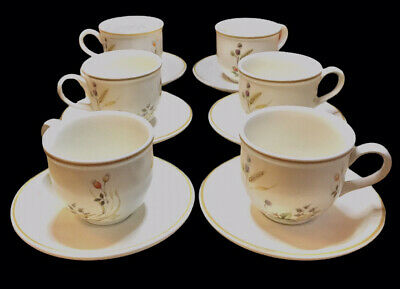 £15 • Buy Marks And Spencer 'Harvest' Collection Set Of 6 Tea Cups And Saucers