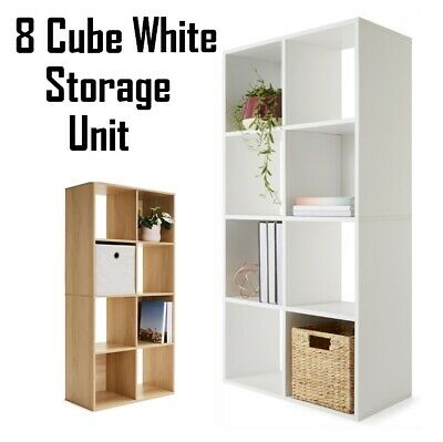 AU47.99 • Buy 8 Cube Storage Shelf White Cabinet Cupboard Bookshelf Display Unit Toy Book