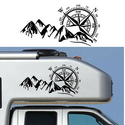 $22.40 • Buy 3D Vinyl Graphics Car Decal Stickers Compass Navigate Mountain 4x4 Offroad Black
