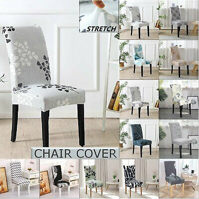AU25.64 • Buy Dining Chair Covers 4/6 Pcs Removable Slipcover Washable Banquet Furniture Cover