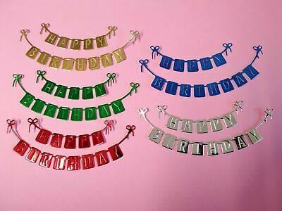£2.60 • Buy 5 Sets Of HAPPY BIRTHDAY Banner, Die Cut, Card Toppers, Birthday, Party