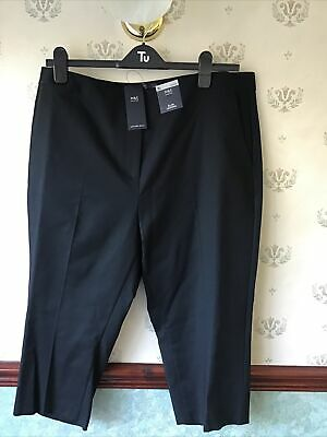 £15.50 • Buy Brand New M&S Slim Cropped Trousers, Short, Black Size 20