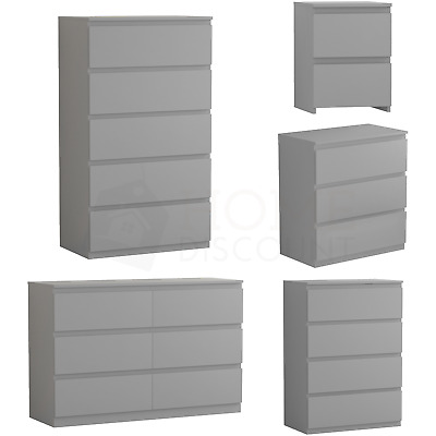 £59.95 • Buy Modern Grey Chest Of Drawers Bedside Table Bedroom 2 3 4 5 6 8 Drawer Cabinet