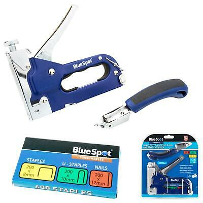 £11.70 • Buy BlueSpot Staple Nail Gun And Staple Remover Set Heavy Duty 3 Way Cable Tacker