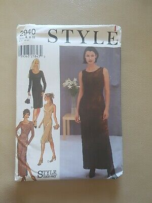 £3 • Buy Ladies Sewing Pattern Style Number 2940 Dress Size 8-18