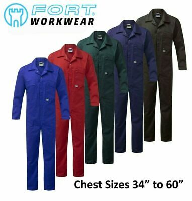 £18.95 • Buy FORT QUALITY 240 GSM MEN'S ZIP FRONT Poly/Cotton COVERALLS Boiler Suit Overalls