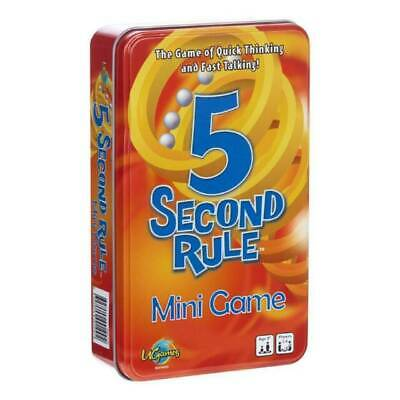 AU11.90 • Buy 5 Second Rule Tinned Board Game - 04475TIN