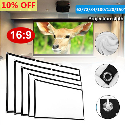 AU28.91 • Buy Portable Foldable Projector Screen 16:9 HD Outdoor Home Cinema Theater 3D Movie=