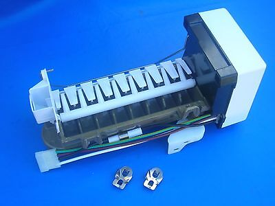 £58.70 • Buy Icemaker Unit Genuine OEM Whirlpool # 4317943 + Support, WH, Cover + SS Clips