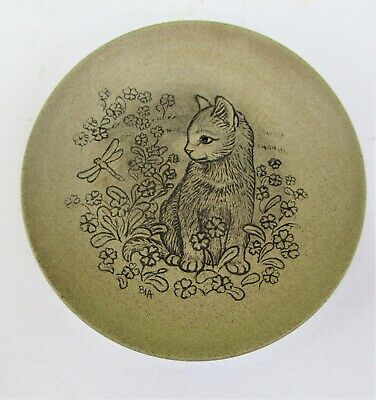 £3 • Buy Poole Pottery Barbara Linley Adams Cat  With Dragonfly Plate Excellent Condition