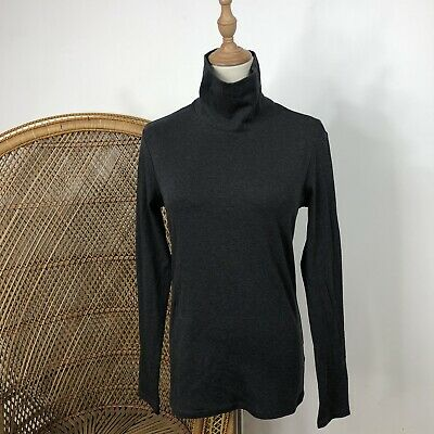 AU10 • Buy Uniqlo Supima Long Sleeve Turtleneck Grey Top Size M Fitted Autum Corporate