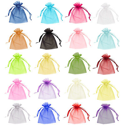 £3.45 • Buy 10 & 25 Organza Bags Wedding Favour Pouches Jewellery Packaging Mesh Drawstring