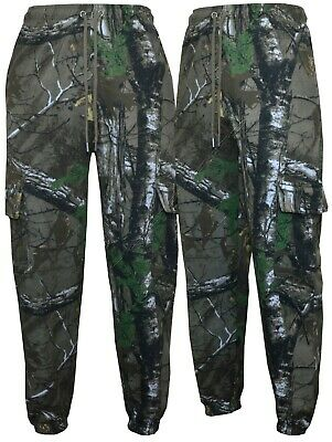 £13.99 • Buy Mens Jungle Print Camouflage Cargo Combat Fleece Jogging Bottoms Trouser S-5XL