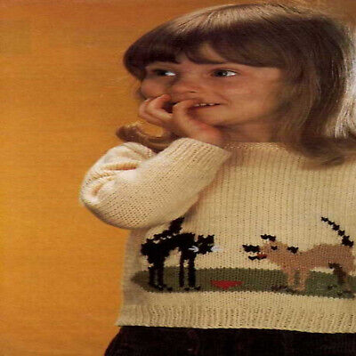 £1.97 • Buy Knitting Patterns Childrens Sweater Chest 18 -24  Inches DK Vintage