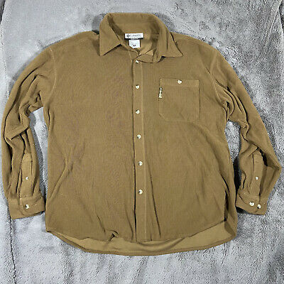 $19.49 • Buy Colombia Mens Medium Brown Corduroy Long Sleeve Button Up Shirt