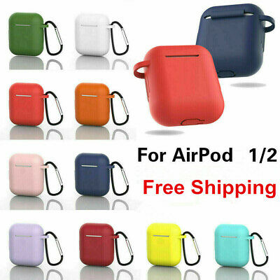 $ CDN3.63 • Buy For Apple AirPods Case 1 2 Silicone Protector Shockproof Full Cover + Keychain