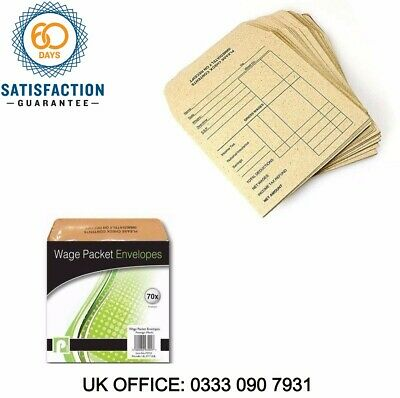£14.99 • Buy Pack Of 70 Wage Packet Envelopes Office 3200 (Large Letter Rate)