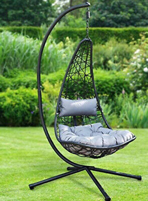£249.99 • Buy Alfresco Living New York Hanging Garden Swing Chair With Stand Free Delivery 🚚