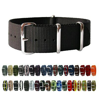 $11.60 • Buy HNS Premium Ballistic Military Nylon Solid SS Watch Replacement Strap / Band