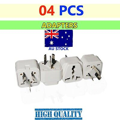 AU15.50 • Buy 4 X US EU Universal To AU Australia 3 Pin Plug AC Power Adapter Travel Converter