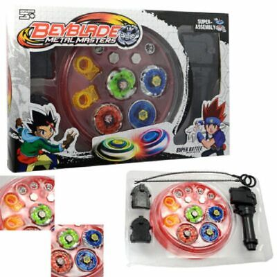 £10.95 • Buy 4D Metal Master Rapidity Fusion Fight Beyblade Stadium Launcher Set Toy Gifts
