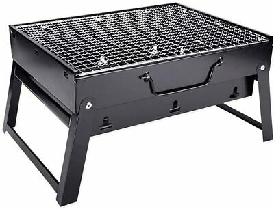 $ CDN25.84 • Buy Barbecue Grill Portable Foldable Charcoal Stainless Steel Smoker BBQ Picnic