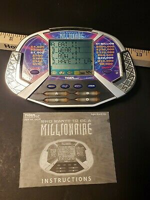 £9.22 • Buy Vintage Tiger Who Wants To Be A Millionaire Handheld Video Game Tested W/ Manual