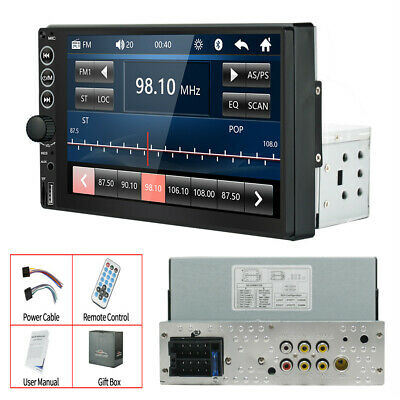 £48.50 • Buy Bluetooth Car Stereo Radio MP5 Player 7in 1Din Touch Screen Head Unit FM USB AUX