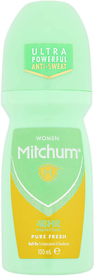 £2.86 • Buy Mitchum Women 48HR Protection Pure Fresh Roll-On Anti-perspirant & Deodorant 100