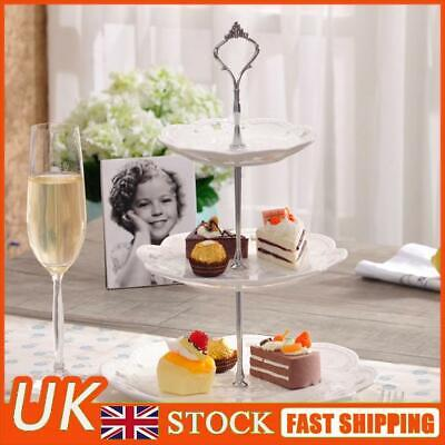 £4.19 • Buy Set Of 3 Tiers Cake Plate Stand Handle Fitting Party Crown Rod DIY