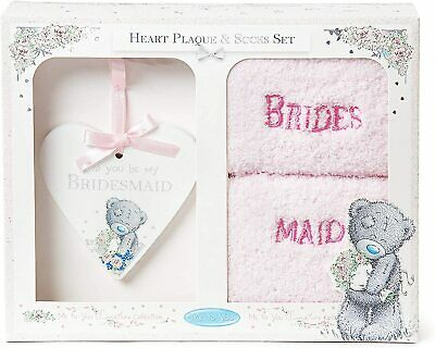 £8.95 • Buy Me To You AGZ01046 Tatty Teddy 'Will You Be My Bridesmaid' Plaque And Bed Socks