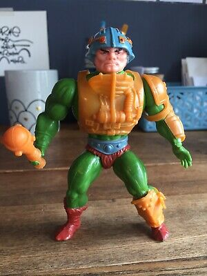 $70 • Buy 1981 Masters Of The Universe Taiwan RED DOT Man-At-Arms Complete, 8 Back Figure