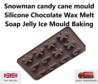 £2.85 • Buy Gingerbread Man Mould Silicone Chocolate Wax Melt Soap Jelly Ice Mould Baking UK
