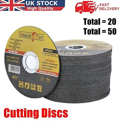 £7.19 • Buy 20/50 Pack Metal Cutting Disc 115mmx 1mm X22mm Stainless Steel Angle Grinder