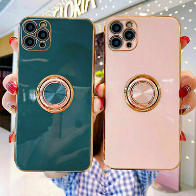 AU12.98 • Buy Shockproof Silicone Ring Case Stand Lanyard Cover For IPhone 12 Pro Max 11 XR 8+
