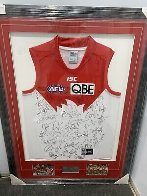 AU500 • Buy 2014 Sydney Swans  Signed Jersey Authenticated Certificate Fantastic Framed