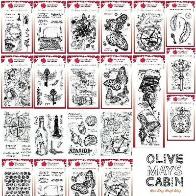 £6.50 • Buy Woodware Clear Stamp Sets - Vintage Floral Seaside Retro - All NEW Designs