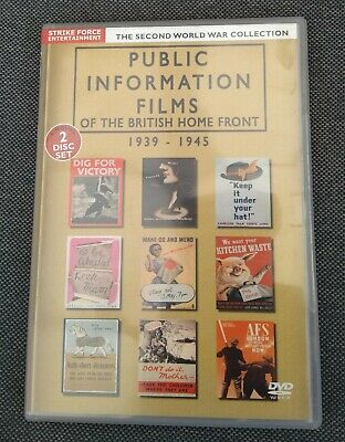 £11.99 • Buy Public Information Films Of The British Home Front Second World War Collection