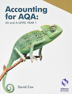 £13 • Buy Accounting For AQA: AS And A Level Year 1 By David Cox Text Book Osborne Books