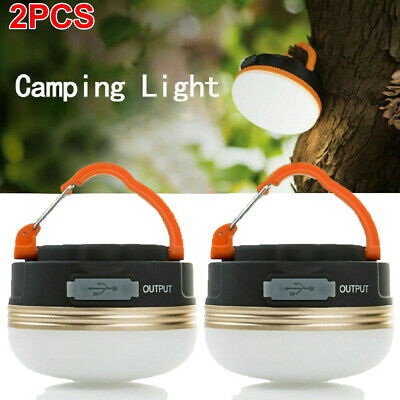 £13.99 • Buy 2PCS Bright Camping Light Night Lamp USB Rechargeable LED Tent Lantern Outdoor