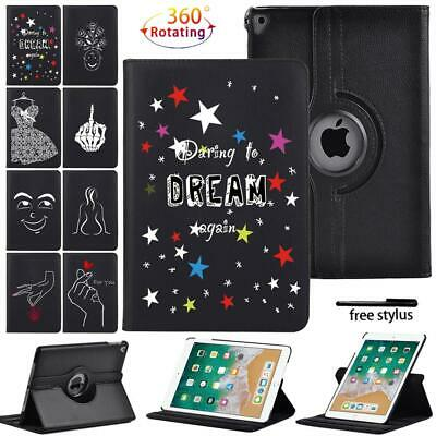 £7.99 • Buy   Initial Name 360° Rotating Leather Case Cover For Apple IPad Air 1 2 3 4