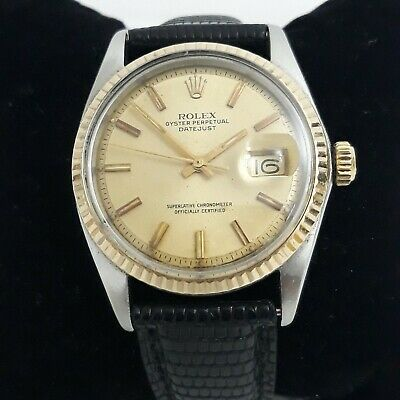 AU3863.74 • Buy Rolex Datejust 1601 Stainless Steel Case 18k Yellow Gold Bezel Champagne Dial