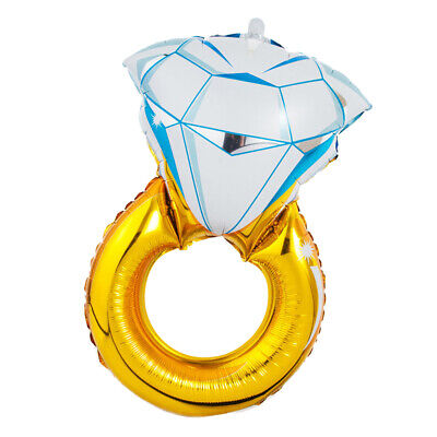 AU7.35 • Buy 30  Diamond Ring Shape Balloon Helium Foil Mylar Balloon Party Wedding Decor