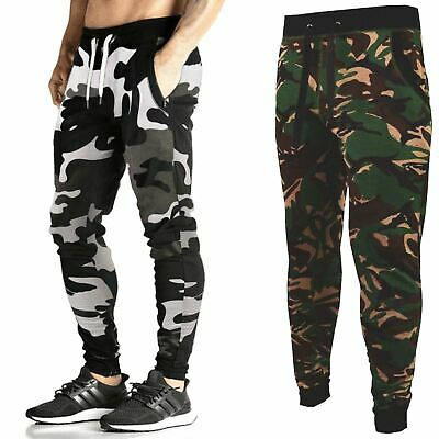 £8.99 • Buy Mens Slim Skinny Fit Joggers Camouflage Jogging Bottoms Stretchy Gym Trousers