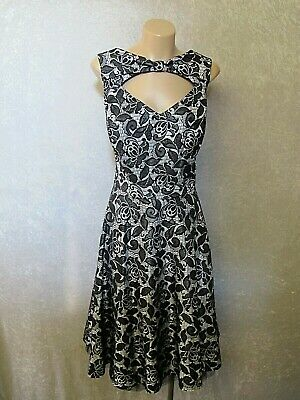 AU23.50 • Buy Size 16 CITY CHIC Sexy BLACK Silver LACE DRESS Party Cocktail Wedding Womens