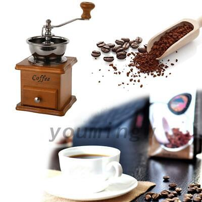 AU15.99 • Buy Hand Manual Stainless Steel Coffee Grinder Bean Pepper Spice Mill Tool Durable