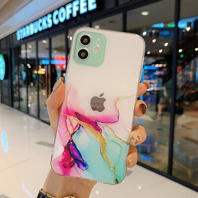 AU6.51 • Buy Girls Marble Print Clear Slim TPU Case Cover For IPhone 11 12 Pro Max Mini